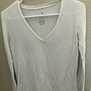 American Eagle Outfitters Tops - american eagle white long sleeve